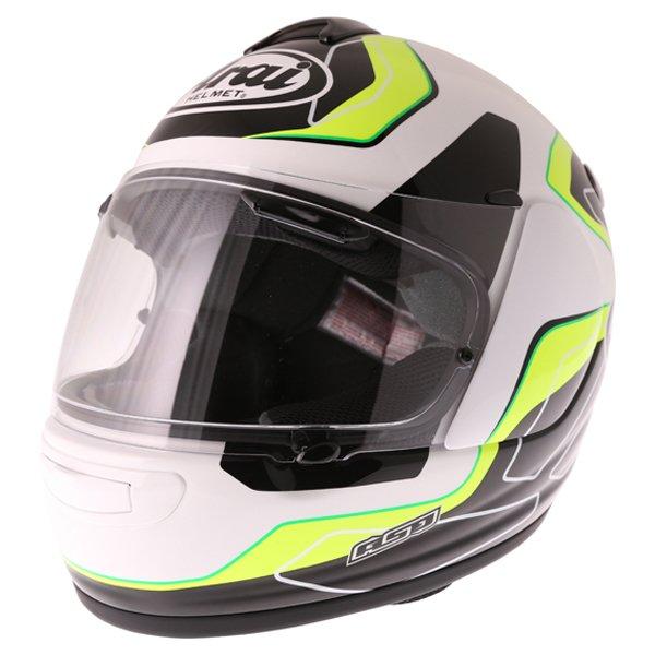 Arai Axces III Flow Green Full Face Motorcycle Helmet Front Left