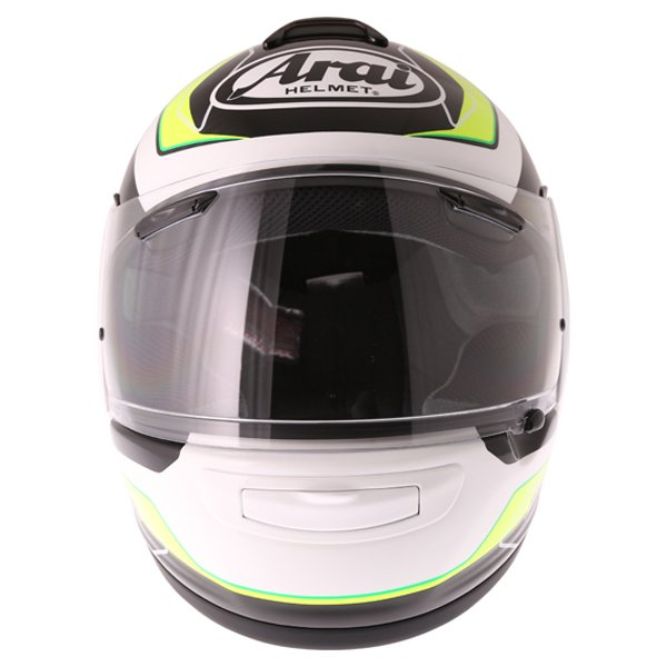 Arai Axces III Flow Green Full Face Motorcycle Helmet Front