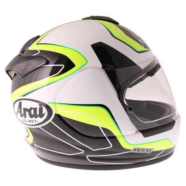 Arai Axces III Flow Green Full Face Motorcycle Helmet Right Side