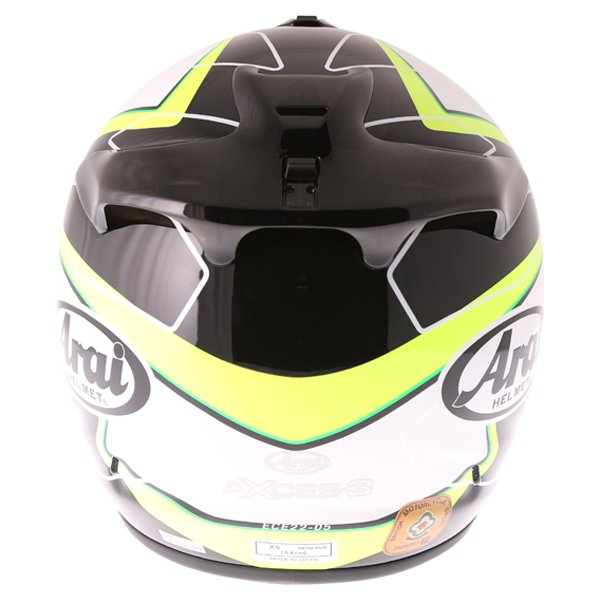 Arai Axces III Flow Green Full Face Motorcycle Helmet Back