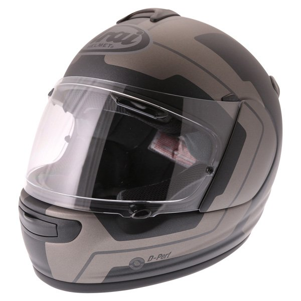 Arai Axces III Line Black Full Face Motorcycle Helmet Front Left