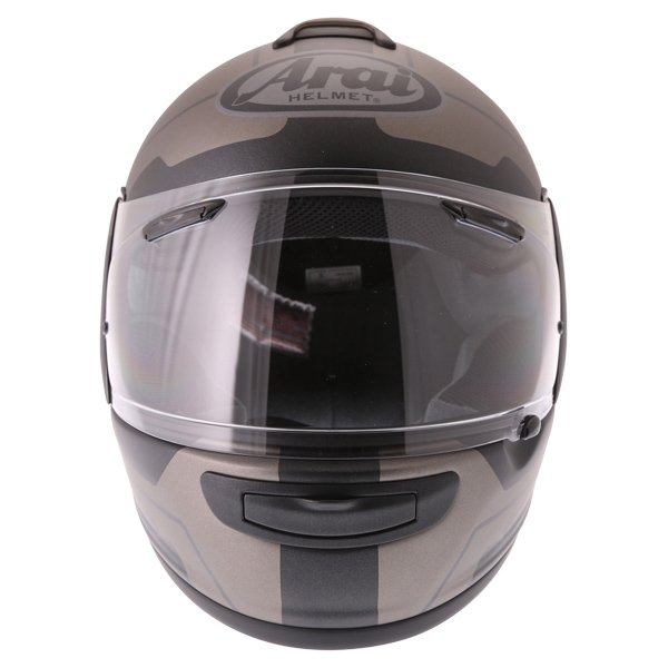 Arai Axces III Line Black Full Face Motorcycle Helmet Front