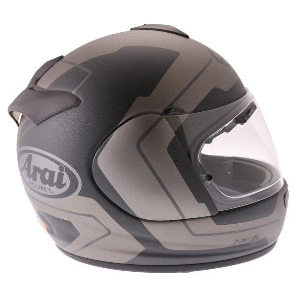 Arai Axces III Line Black Full Face Motorcycle Helmet Right Side