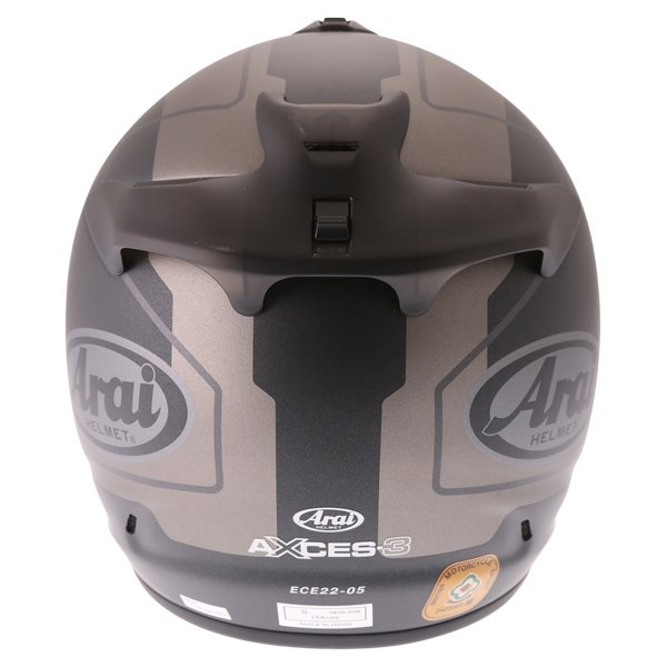 Arai Axces III Line Black Full Face Motorcycle Helmet Back