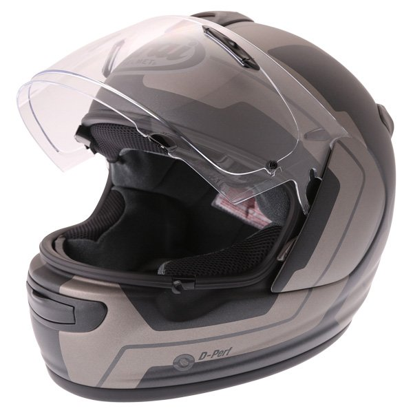 Arai Axces III Line Black Full Face Motorcycle Helmet Visor Open