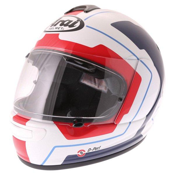 Arai Axces III Line Blue Full Face Motorcycle Helmet Front Left
