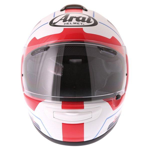 Arai Axces III Line Blue Full Face Motorcycle Helmet Front