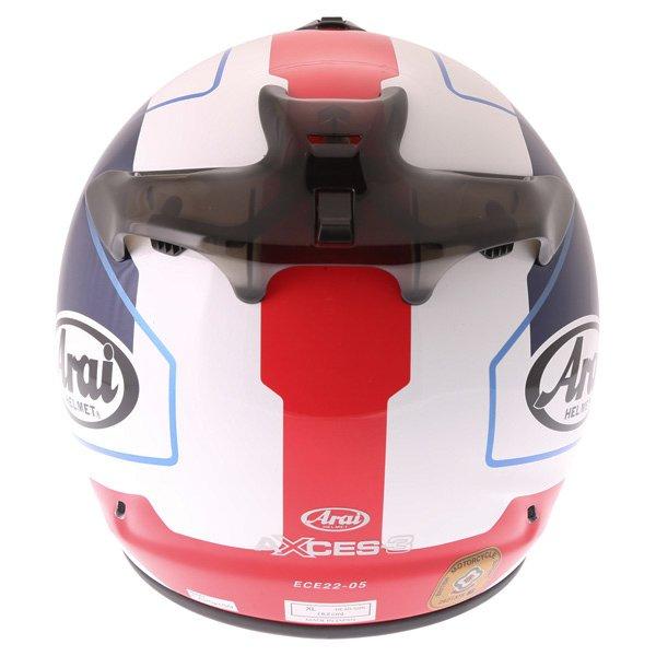Arai Axces III Line Blue Full Face Motorcycle Helmet Back