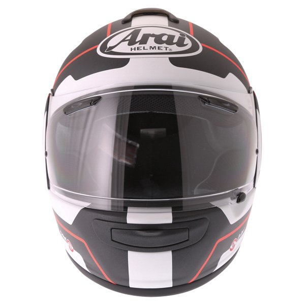 Arai Axces III Line Red Full Face Motorcycle Helmet Front