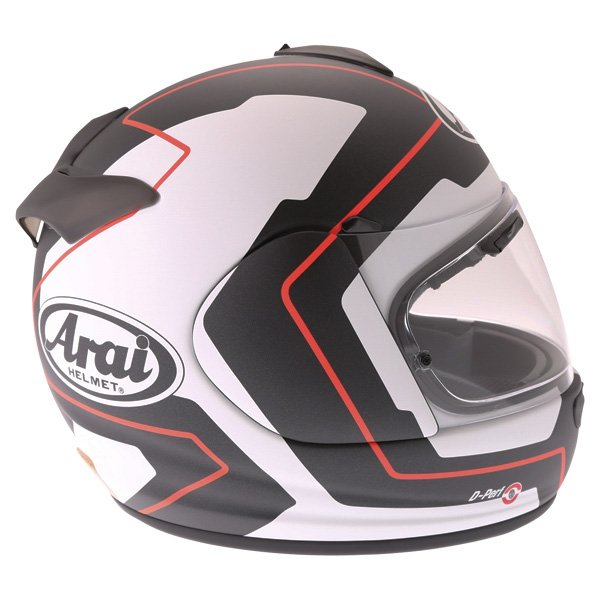 Arai Axces III Line Red Full Face Motorcycle Helmet Right Side