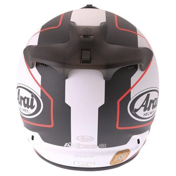 Arai Axces III Line Red Full Face Motorcycle Helmet Back