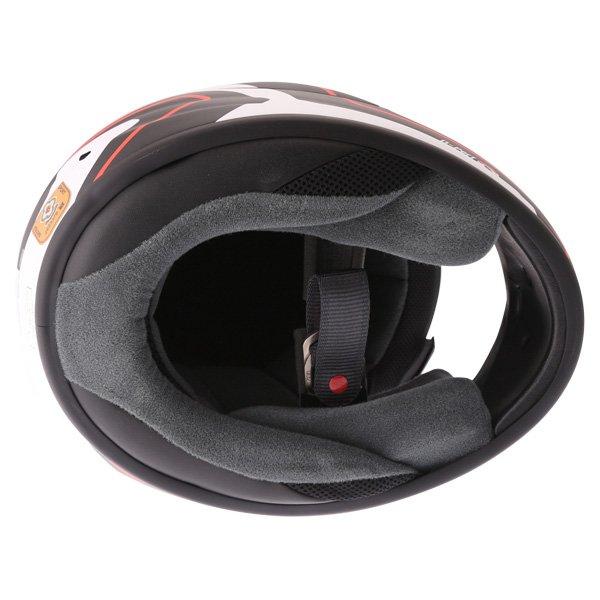 Arai Axces III Line Red Full Face Motorcycle Helmet Inside