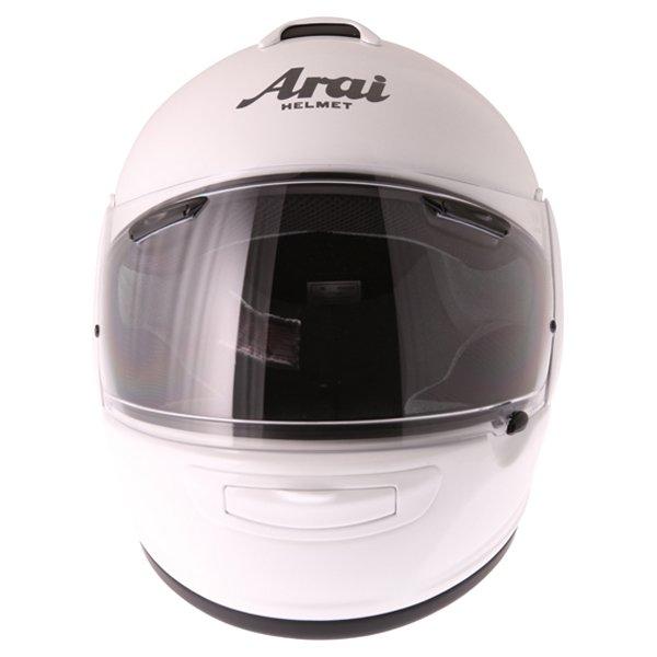 Arai Axces III Diamond White Full Face Motorcycle Helmet Front