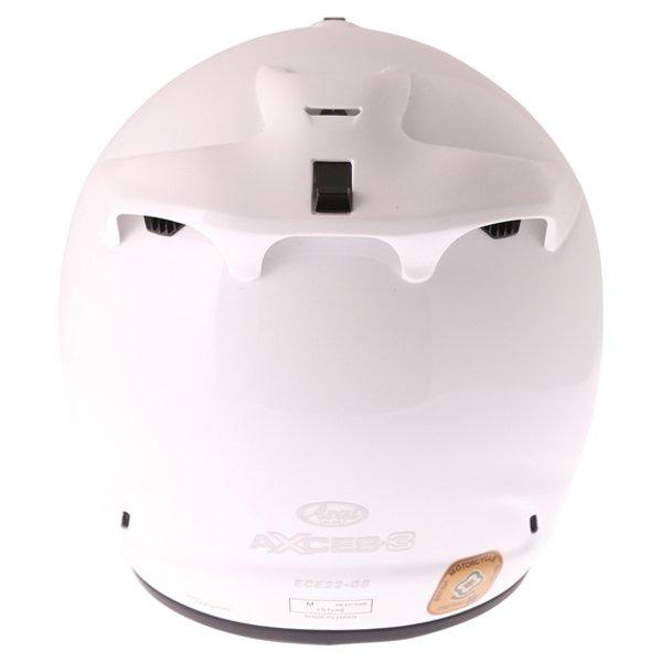 Arai Axces III Diamond White Full Face Motorcycle Helmet Back