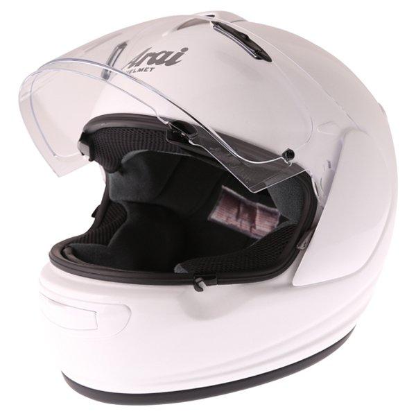 Arai Axces III Diamond White Full Face Motorcycle Helmet Open Visor