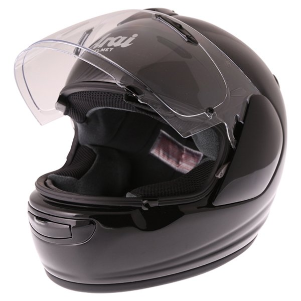 Arai Axces III Diamond Black Full Face Motorcycle Helmet Visor Open