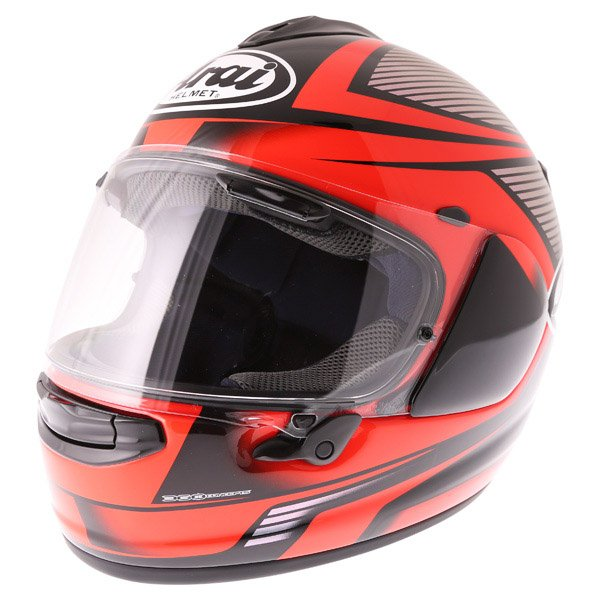 Arai Chaser X Tough Red Full Face Motorcycle Helmet Front Left