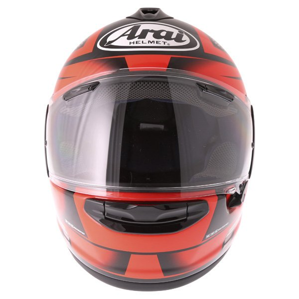 Arai Chaser X Tough Red Full Face Motorcycle Helmet Front