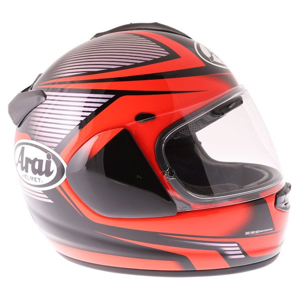 Arai Chaser X Tough Red Full Face Motorcycle Helmet Right Side