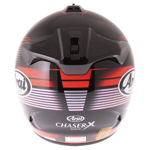 Arai Chaser X Tough Red Full Face Motorcycle Helmet Back