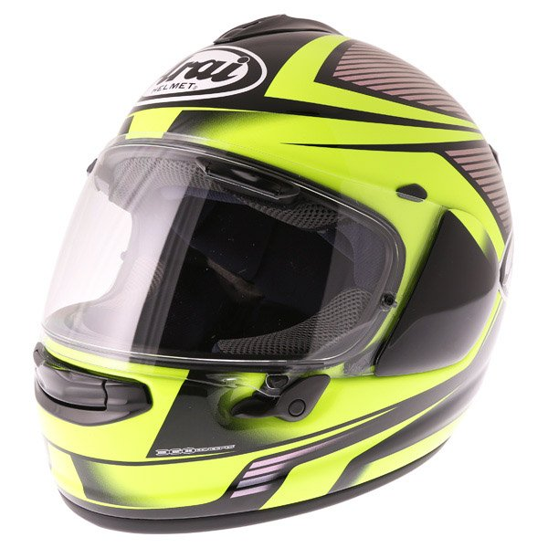 Arai Chaser X Tough Yellow Full Face Motorcycle Helmet Front Left