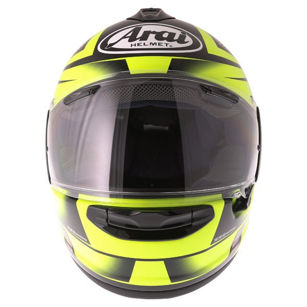 Arai Chaser X Tough Yellow Full Face Motorcycle Helmet Front