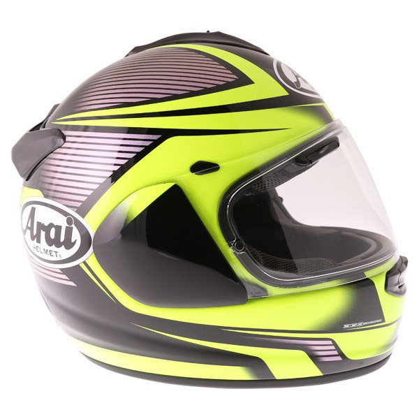 Arai Chaser X Tough Yellow Full Face Motorcycle Helmet Right Side