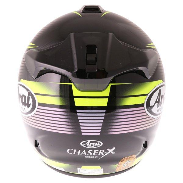 Arai Chaser X Tough Yellow Full Face Motorcycle Helmet Back