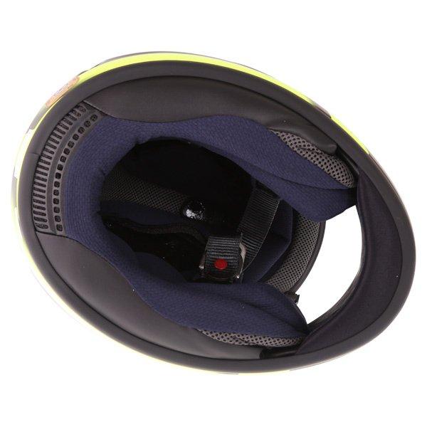 Arai Chaser X Tough Yellow Full Face Motorcycle Helmet Inside