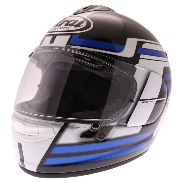Arai Chaser X Competition Blue Full Face Motorcycle Helmet Front Left
