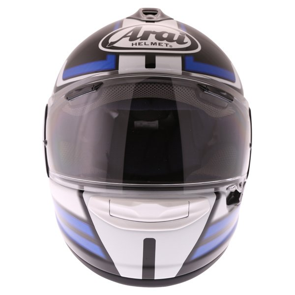 Arai Chaser X Competition Blue Full Face Motorcycle Helmet Front
