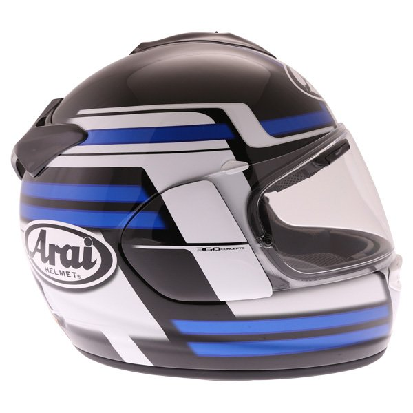 Arai Chaser X Competition Blue Full Face Motorcycle Helmet Right Side