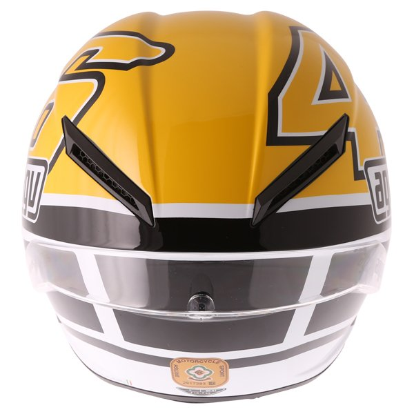 AGV Corsa-R Valentino Rossi Goodwood Full Face Motorcycle Helmet Back