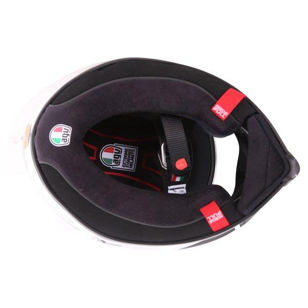 AGV Corsa-R Valentino Rossi Goodwood Full Face Motorcycle Helmet Inside