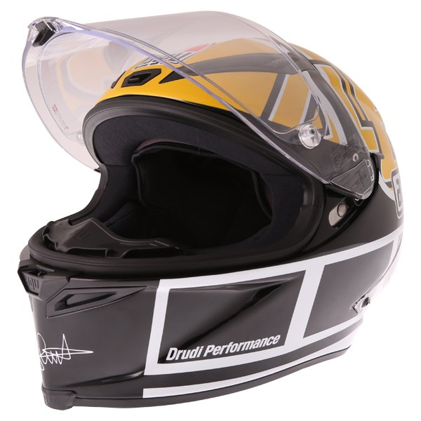 AGV Corsa-R Valentino Rossi Goodwood Full Face Motorcycle Helmet Visor Open
