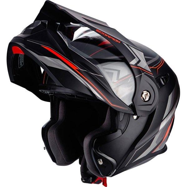 ADX-1 Anima Helmet Matt Black Red Scorpion Helmets