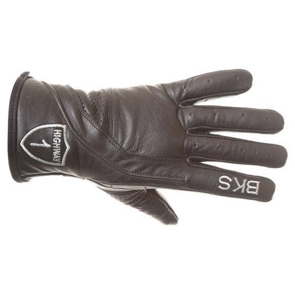 BKS Classic Highway 1 Black Motorcycle Gloves Back