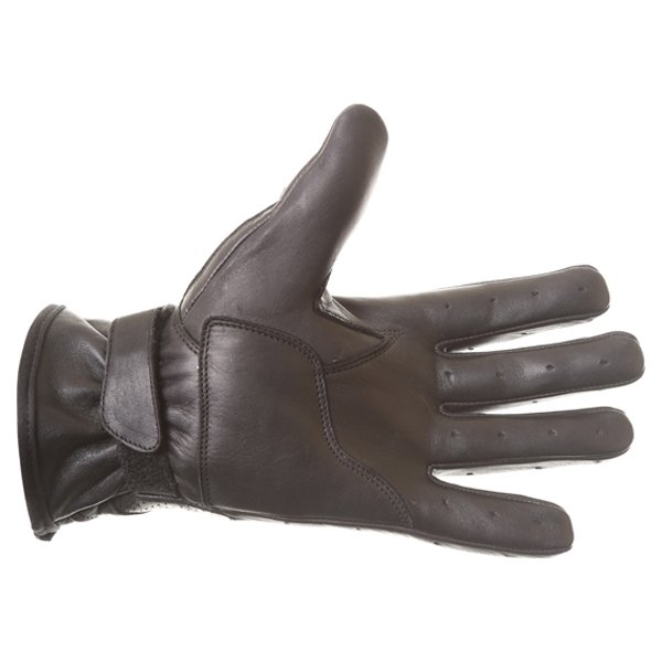 BKS Classic Highway 1 Black Motorcycle Gloves Palm