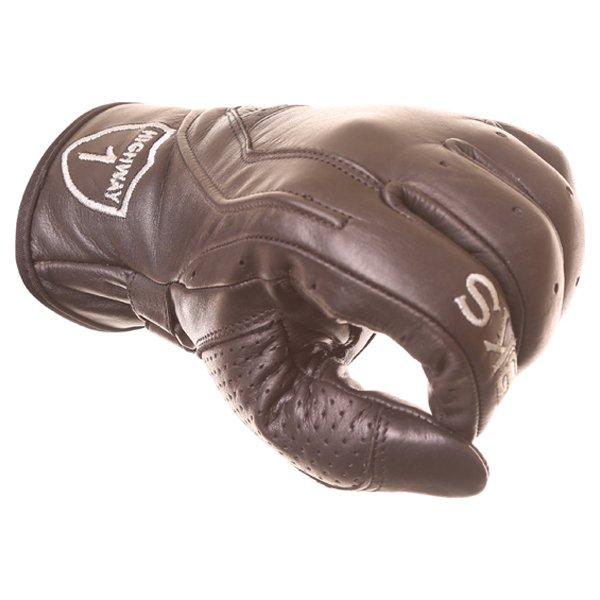 BKS Classic Highway 1 Black Motorcycle Gloves Knuckle