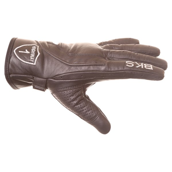 BKS Classic Highway 1 Black Motorcycle Gloves Thumb side