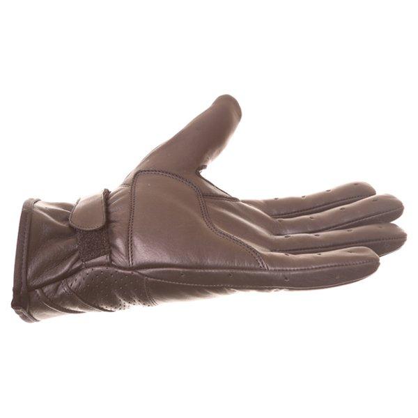 BKS Classic Highway 1 Black Motorcycle Gloves Little finger side