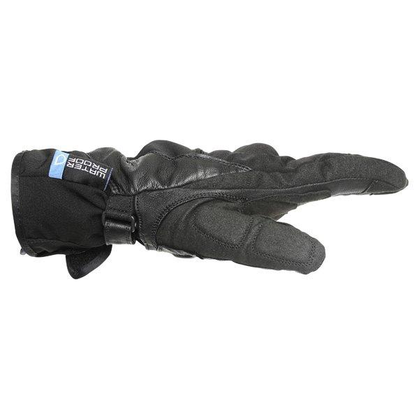 Frank Thomas Black Motorcycle Navigator Gloves Thumb side