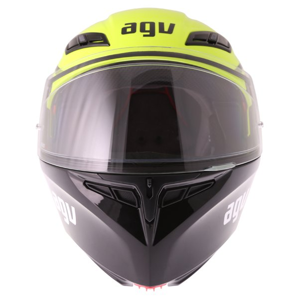 AGV Compact-ST Course Yellow Black Flip Front Motorcycle Helmet Front
