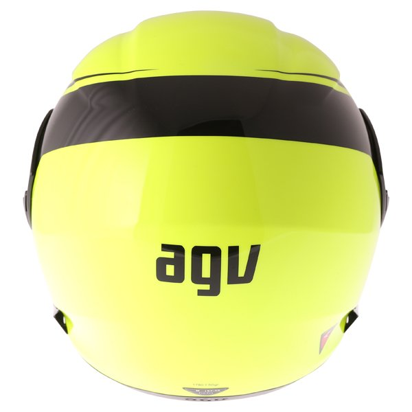 AGV Compact-ST Course Yellow Black Flip Front Motorcycle Helmet Back