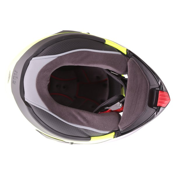 AGV Compact-ST Course Yellow Black Flip Front Motorcycle Helmet Inside