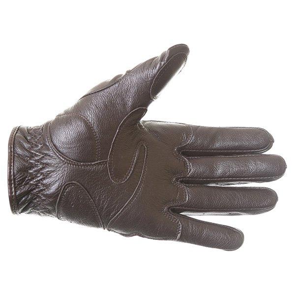 Dainese Black Jack Brown Motorcycle Gloves Palm