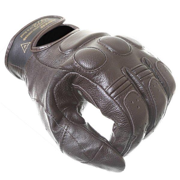 Dainese Black Jack Brown Motorcycle Gloves Knuckle