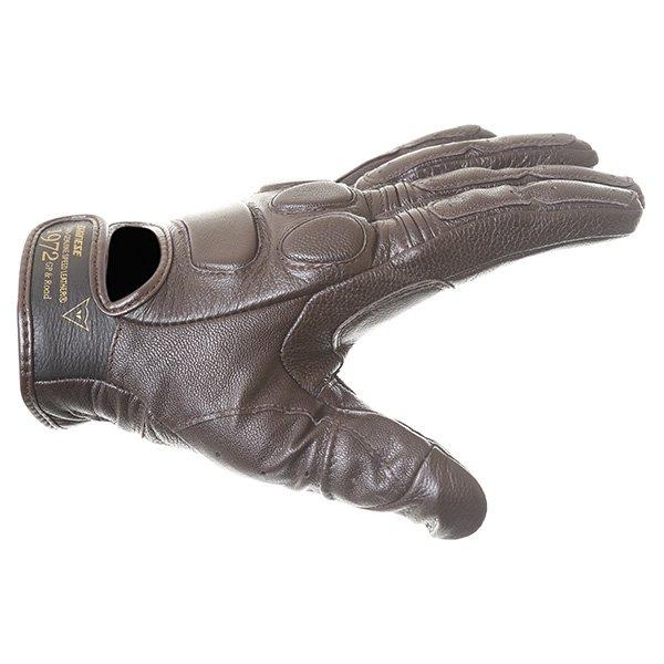 Dainese Black Jack Brown Motorcycle Gloves Thumb side