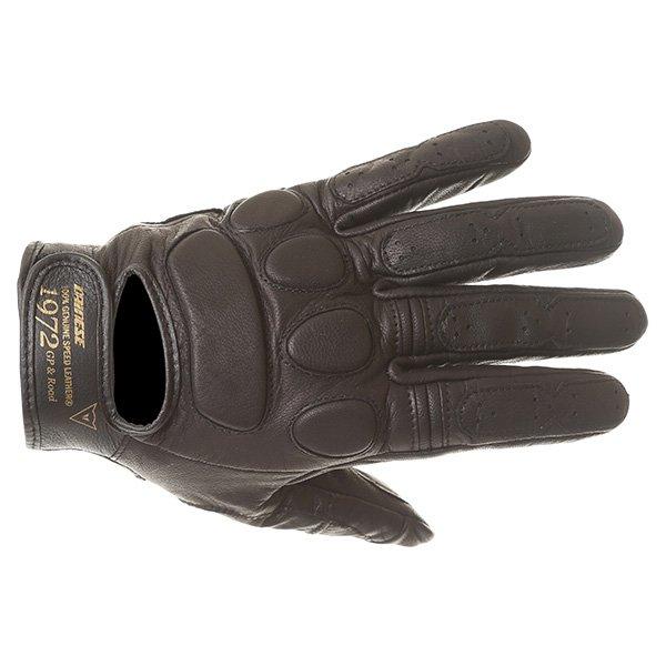 Dainese Black Jack Black Motorcycle Gloves Back