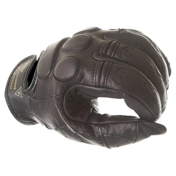 Dainese Black Jack Black Motorcycle Gloves Knuckle